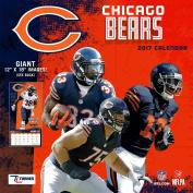 Turner Licencing Sport 2017 Chicago Bears Team Wall Calendar, 30cm x 30cm