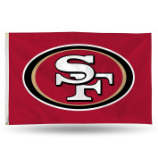 NFL San Francisco 49Ers Banner Flag, 0.9m x 1.5m, Red