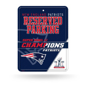 NFL New England Patriots Super Bowl LI Champs High-Res Metal Parking Sign