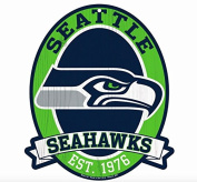 Seattle Seahawks Wood Street Sign 28cm x 33cm NFL