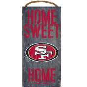 San Francisco 49ers Home Sweet Home Wood Sign 30cm x 15cm
