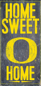 Oregon Ducks Wood Sign - Home Sweet Home 6x12
