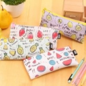 Happy Star® Tropical Fruit Strawberry Watermelon Pineapple Lemon Pencil Case Cosmetic Bags Make Up Bags Pen Pouches