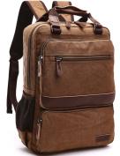 Aidonger Vintage Canvas School bag Laptop Backpack