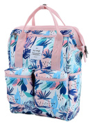HotStyle DISA Tropical Convertible Handbag Backpack for Laptop Up To 36cm - Pink