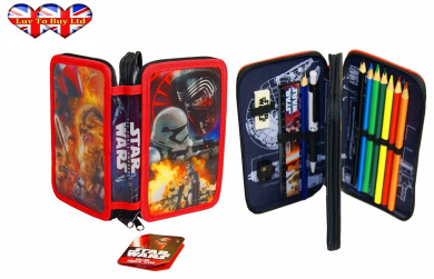 Star Wars,,Filled Pencil Case,,,Perfect For Children 2 Layer Pencil Case