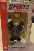 TENNESSEE TITANS SPORTS COLLECTIBLES SERIES GLASS SANTA ORNAMENT