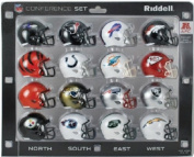 NFL AFC 16-Piece Conference Pocket Size Helmet Set