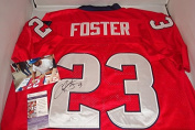 Arian Foster Signed red Houston Texans Jersey, JSA Authentic with Picture Signing