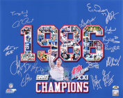 1986 New York Giants Signed 16x20 Photo - 16 Signatures! - Super Bowl Champions! - Bart Oates, Karl Nelson, etc.