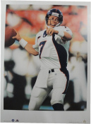 John Elway 16x22 Unsigned Lithograph Poster Print Denver Broncos World Champs