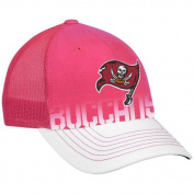 Tampa Bay Buccaneers Women's Pink Breast Cancer Awareness Structured Adjustable Snapback Mesh Back Hat