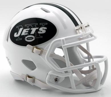 NEW YORK JETS NFL Riddell SPEED Full Size REPLICA Football Helmet colour RUSH