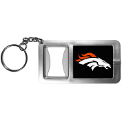 NFL Denver Broncos Flashlight Key Chain with Bottle Opener