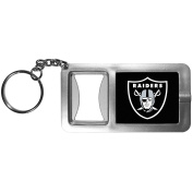 NFL Oakland Raiders Flashlight Key Chain with Bottle Opener