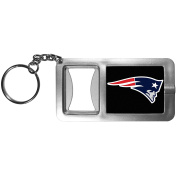 NFL New England Patriots Flashlight Key Chain with Bottle Opener