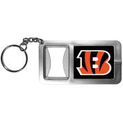 NFL Cincinnati Bengals Flashlight Key Chain with Bottle Opener