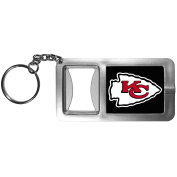 NFL Kansas City Chiefs Flashlight Key Chain with Bottle Opener