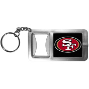 NFL San Francisco 49Ers Flashlight Key Chain with Bottle Opener