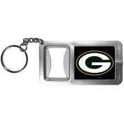 NFL Green Bay Packers Flashlight Key Chain with Bottle Opener