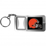 NFL Cleveland Browns Flashlight Key Chain with Bottle Opener