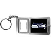 NFL Seattle Seahawks Flashlight Key Chain with Bottle Opener