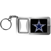 NFL Dallas Cowboys Flashlight Key Chain with Bottle Opener