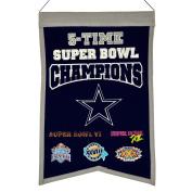 NFL Dallas Cowboys 5X Super Bowl Champions Banner, One Size, Multicolor