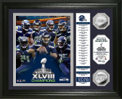 """NFL Seattle Seahawks Super Bowl 48 Champions """"Banner"""" Photo Minted Coin, 46cm x 36cm x 7.6cm , Silver"""