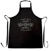Grumpy Old Man Handle With Care Dad Grandad Brother Uncle Father Getting Older Embelishments Funny Slogan Apron Kitchen BBQ Cook Cool Birthday Gift Present