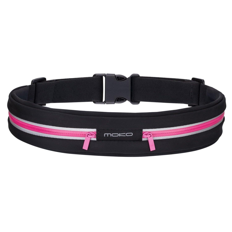 327d0c510083 Running Belt Waist Pack, MoKo Sports Outdoor Sweatproof Reflective Waist  Belt Fanny Pack, Fitness Workout Belt, Runner Belt, 2 Pouch Bag for iPhone  7, ...
