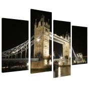 Large Black White London Canvas Tower Bridge 130cm Wide Pictures 4023