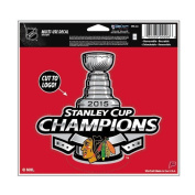 2015 Chicago Blackhawks NHL Stanley Cup Finals Champions Multi Use Decal 13cm x 15cm