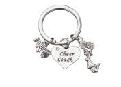 Cheer Coach Gift- Cheerleading Coach Keychain, Cheer Coach Jewellery - Perfect Gift For Cheer Coaches