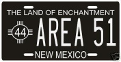 Area 51 Nuclear Testing Range Alien UFO New Mexico 1944 Licence Plate