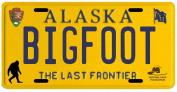 Bigfoot Yeti Sasquatch Metal 1980's Alaska Licence Plate