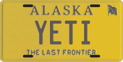 Bigfoot YETI Sasquatch metal Alaska Licence Plate