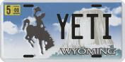 Bigfoot YETI Sasquatch metal Wyoming Licence Plate