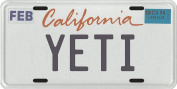 Bigfoot YETI Sasquatch metal California Licence Plate