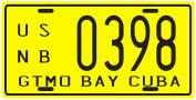 Cuba Pre-revolution Guantanamo Bay Gitmo GTMO 1950's Replica Metal Licence Plate