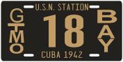 Cuba Pre-revolution Guantanamo Bay Gitmo GTMO 1942 Replica Metal Licence Plate
