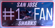 San Jose Sharks SJ 9101 #1 Fan NHL Hockey Metal Tag Licence Plate