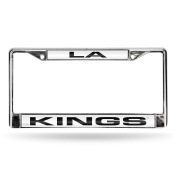 NHL Los Angeles Kings Laser Cut Chrome Plate Frame