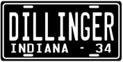 John Dillinger Great Depression Era Gangster 1934 Indiana Licence Plate