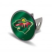 NHL Minnesota Wild Laser Cut Metal Hitch Cover, Large, Silver