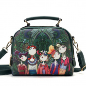 Women Leather Messenger Tote Bag Retro Flap Shoulder Bag Handbag Woman