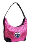 NHL Edmonton Oilers Pink Quilted Hobo