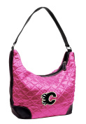 NHL Calgary Flames Pink Quilted Hobo