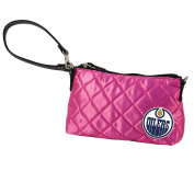 NHL Memphis Oilers Pink Quilted Wristlet