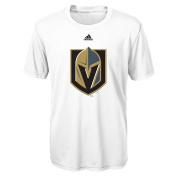 NHL Las Vegas Golden Knights Boys Primary Logo Performance Short Sleeve Tee, White, S